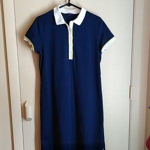 Lands End navy tee shirt dress sz 10/12
